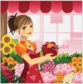 pixwords Květinářka